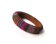 Exciting Colors - Elegant, Lightweight, Soft and Comfortable Beaded Roll Felt Bracelet for Everyday Wear