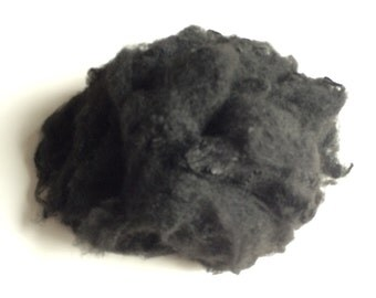 Black or white Polyester staple fibre best for needle felting large projects 450g