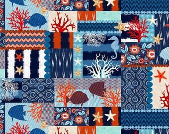 Michael Miller Fabrics - Indo Ikat Collage Indigo - DC6279-INDI-D