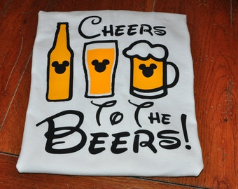 Disney World Mickey Mouse Cheers to the Beers Epcot Shirt/Epcot/Food and Wine Festival/