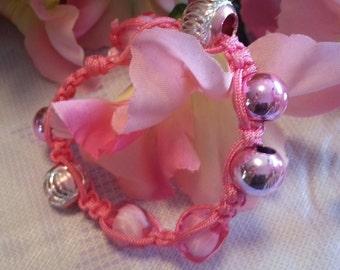 Michelle's Summer Collection~~Pink Slipknot bracelet