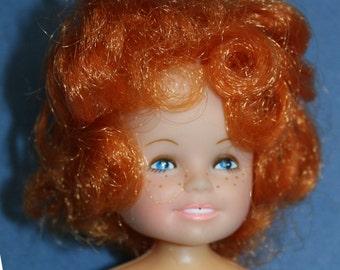 "Vtg Knickerbocker Orphan Annie 1982 Doll 6"" Tall Toy Vinyl w/ Pantaloons"