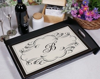 Personalized Custom Initial Serving Tray
