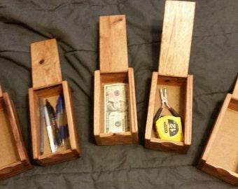 Oak Money box. Long box for money or small items.
