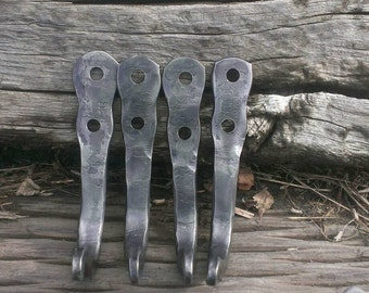 Wrought iron coat /towel hooks