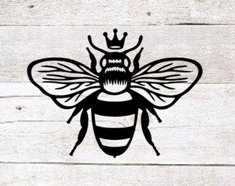 Queen Bee Decal | Queen Bee Yeti Decal | Car Decal | Bee Decal