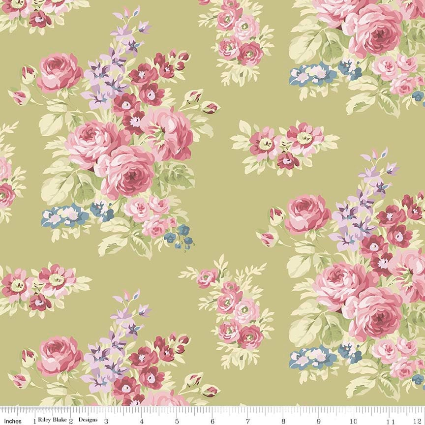 Penny rose anne of green gables floral c5861 green for Anne of green gables crafts