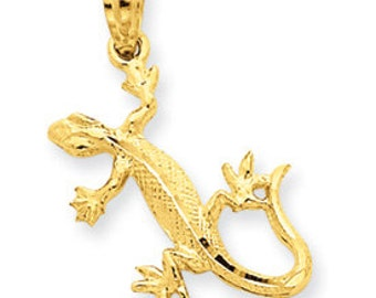 Diamond Cut Lizard Pendant (JC-786)