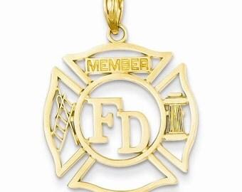 FD Member In Shield Pendant (C3105)