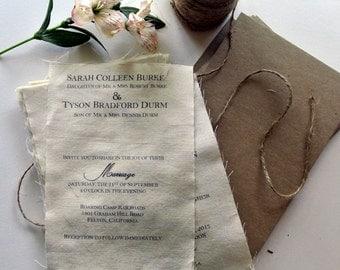 DIY Rustic  Wedding Invitation Kit - Burlap Fabric Rustic Wedding Knot Invitation Ideas Wedding Invitation Sample