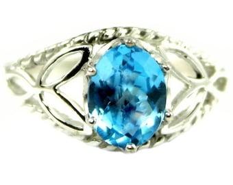 Summer Sale, 30% Off, SR137, Swiss Blue Topaz, 925 Sterling Silver Ring