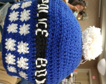 Tardis inspired hat