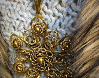 Maya - Beautiful brass old pendant necklace