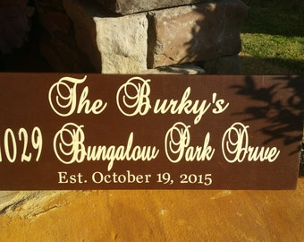 Personalized Name and Address Sign