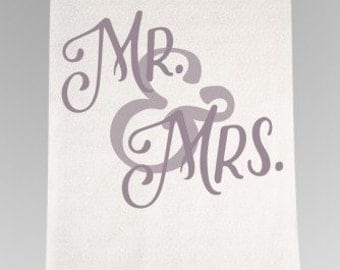 Mr. and Mrs. Aisle Runner-IL, Wedding Aisle Runner, White Aisle Runner