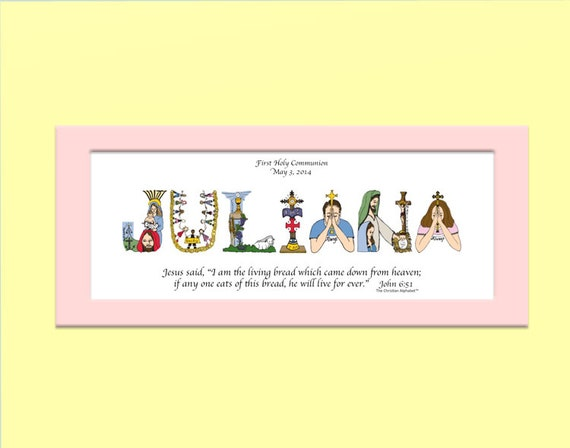 First Holy Communion Gift for Boys and Girls Personalized