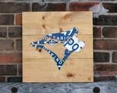 Toronto Blue Jays Art Decor - Handmade Vintage Industrial License Plate Art - Puritan Pine