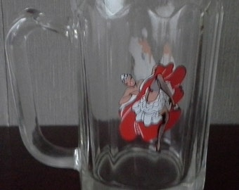 can can beer glass half pint