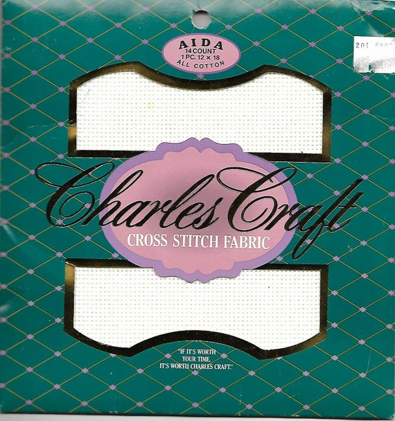 White aida cross stitch fabric new in package from for Charles craft cross stitch fabric