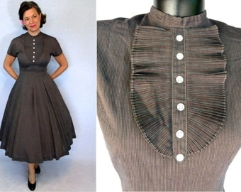 50s Dress / 1950s Dress / Jonathan Logan Dress / 1950s Day Dress / 50s Day Dress / Summer Dress / Day Dress / Cotton Dress / New Look Dress
