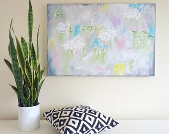 Large Abstract Floral Painting - Contemporary Art -  Abstract Art - Nursery Painting