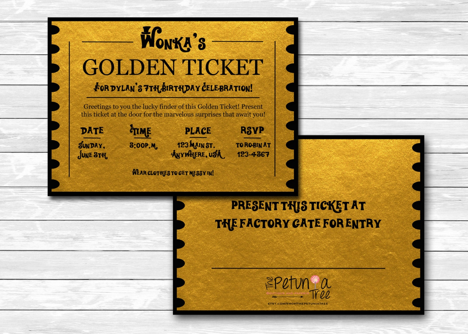 It is an image of Handy Printable Golden Tickets