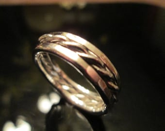 Triple Sterling Ring stack with a Twist