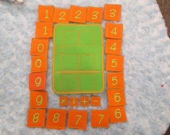 Felt Math Board counting,Ready to ship,many colors,arithmetic,math game