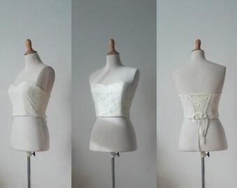 Lace Corset, Sweetheart neckline organic lining