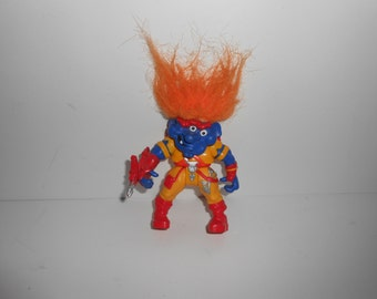 Vintage Troll Warriors Action Figure Eyerick The Marksman 1992 Tyco
