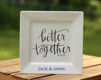 Personalized Wedding Plate Word Art Custom Porcelain Plate: Wedding, Anniversary, Family.keepsake plate 13