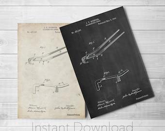 Blacksmith Printables, Blacksmith Tongs, Barn Wall Art, Metal Work, Blacksmith Tools, Blacksmith Made, PP0744