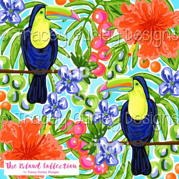 tropical bird tropical digital paper toucan preppy digital