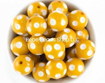 20mm Polka Dot - Mustard