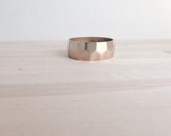 Hammered Brass Bracelet
