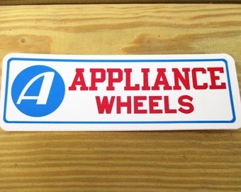 70's Appliance Wheels Decal