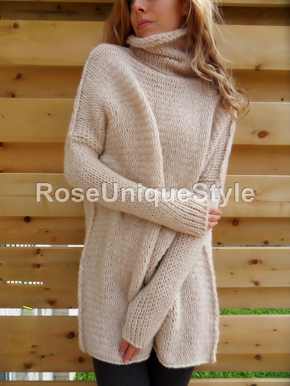 Oversized Chunky Knit Sweater Slouchy Bulky Loose Fit