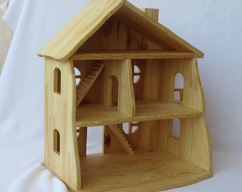 Handmade wooden dollhouse