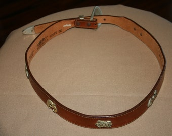 Genuine Leather, Beautiful Silver Creek Belt - Size 32 -