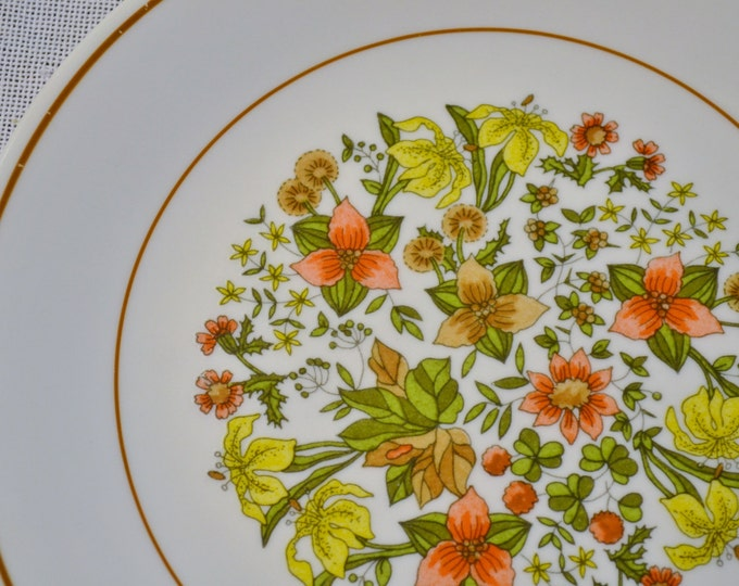 Vintage Corelle Indian Summer Luncheon Salad Plate Corning Ware Yellow Orange Green Flower Replacement PanchosPorch