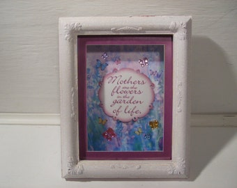 Mom's Shadow Box Floral Decorative Boxes
