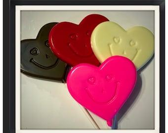 Heart Lollipops, Valentines day chocolate Lollipops