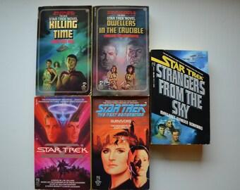 Five Vintage 1980's Star Trek Novels