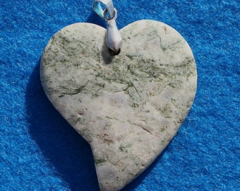Heart Shaped Stone Pendant