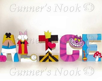 Alice in Wonderland Character Letter Art - Price Per Letter