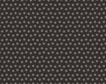 One Yard Luckie - Sirius in Black - Stars Cotton Quilt Fabric - by Maude Asbury for Blend Fabrics - 101.115.05.2 (W3460)