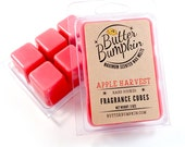 Apple Harvest Scented Wax Melts - Maximum Fragrance Fall Fragrance Wax Cubes - Strong Autumn Apples Aroma Candle Melts