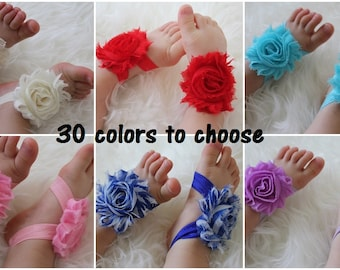 Baby barefoot sandals, baby girl, barefoot sandals baby, flower sandals, infant shoes, custom shoes, baby shoes, baby shower gift set, baby