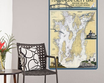 Narragansett Bay Rhode Island Wall Decal - #60858