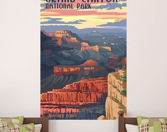 Grand Canyon Natl Park Mather Point Wall Decal - #60657